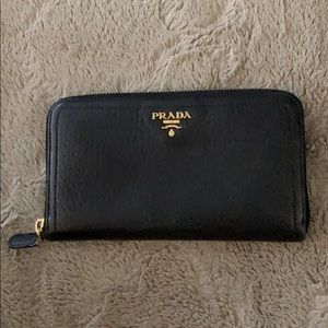 Prada Saffiano Large Leather Wallet